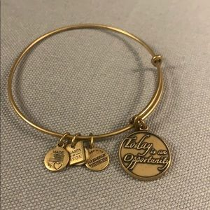 Alex and Ani Bracelet in gold with charms